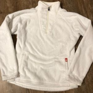 The North Face M plush fleece half-zip jacket